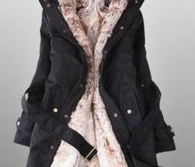 Winter Coats For Women With Faux Fur Lining In black